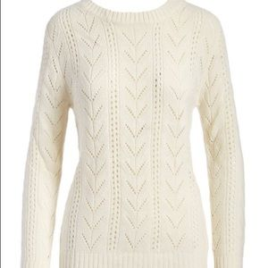 Devoted by Dex Ivory Lace Back Sweater